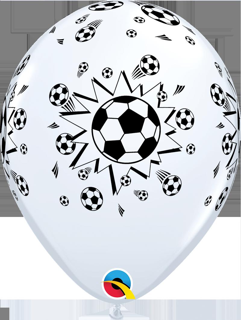 Qualatex Ballon Fussball Schwarz Weiss 30 Cm