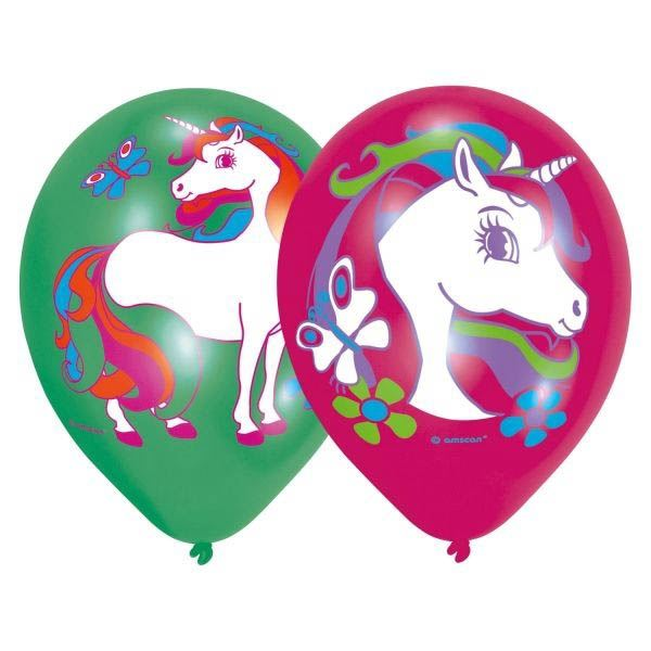 Einhorn - 6 Luftballons