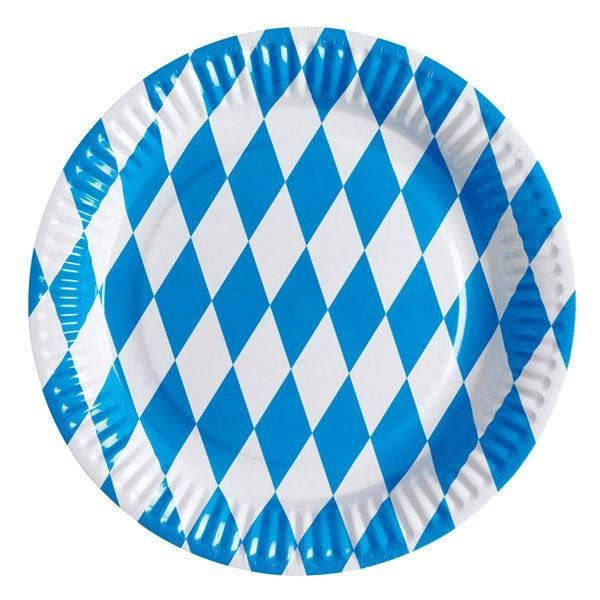 Oktoberfest - 8 Pappteller