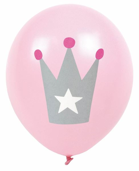Prinzessin - 8 Latexballons Ø 30cm