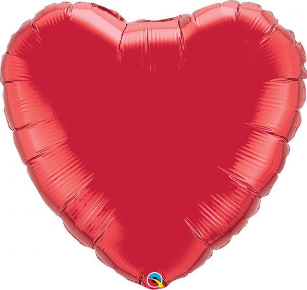Folienballon Herz Rot 90 cm