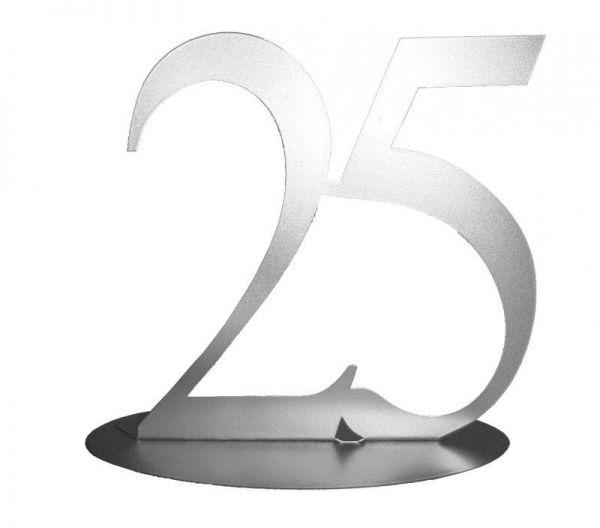 Metall Aufsteller 25 Silberne Hochzeit