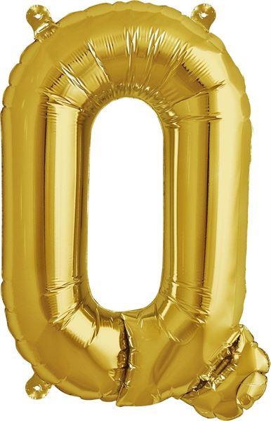 Luftballon Buchstabe Q Gold 40 cm
