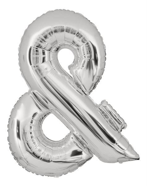 Folienballon Sonderzeichen & Silber 100cm
