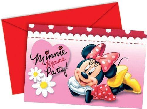 Verrückt nach Minnie - 6 Einladungskarten