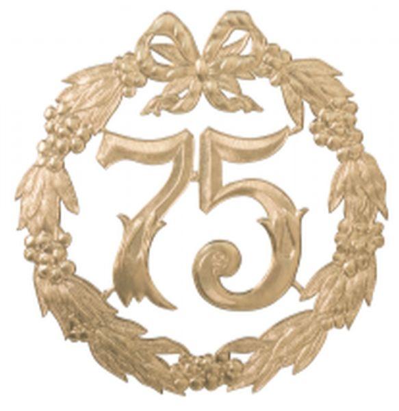"""Jubiläumszahl Gold """"75"""""""