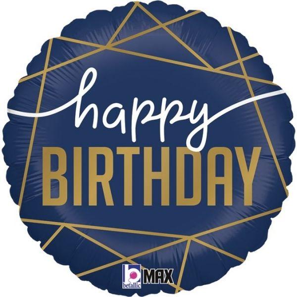 Folienballon Happy Birthday 46cm