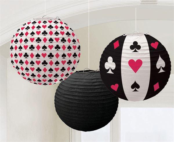 Casino Party - 3 Lampions
