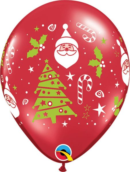 Qualatex Latexballon Santa & Christmas Tree Ø 30cm
