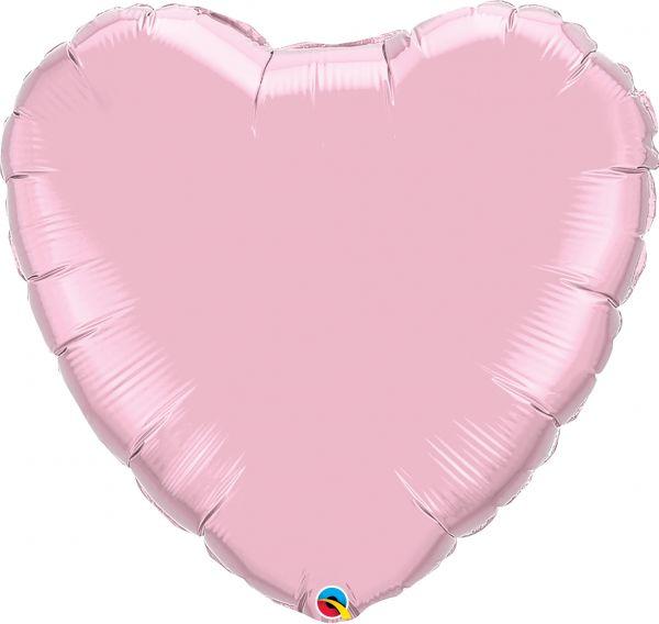 Folienballon Herz Pearl Rosa 90 cm