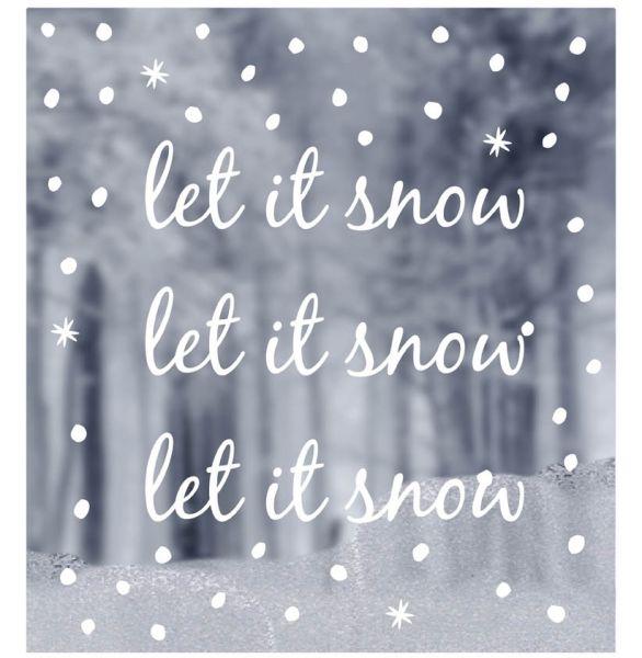 Fenster Sticker let it snow