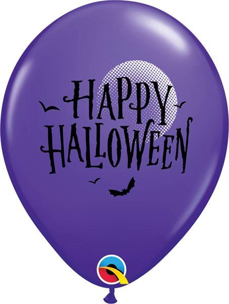 Qualatex Ballon Halloween Fledermäuse Lila 30cm