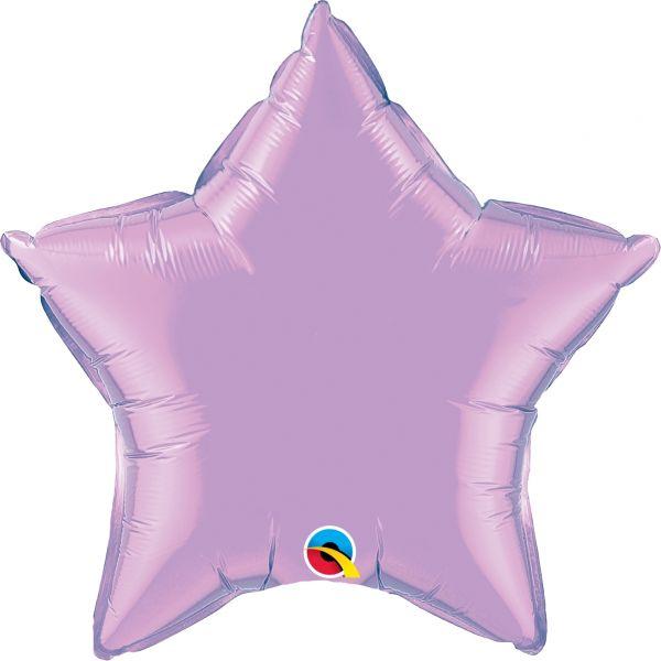 Folienballon Stern Pearl Flieder 45cm