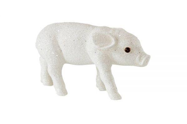 Solna Schweinchen M - Glitzer Weiß