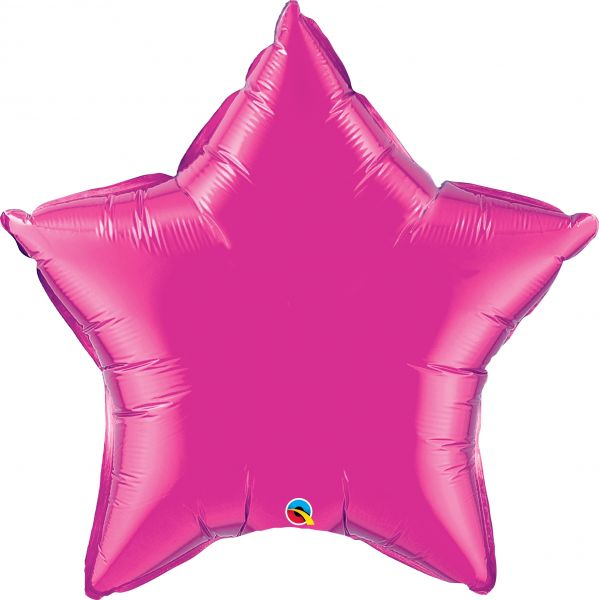 Folienballon Stern Pink 90 cm