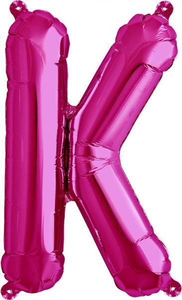 Luftballon Buchstabe K Pink 40cm