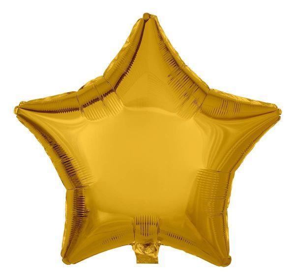 Folienballon Stern Gold 45cm