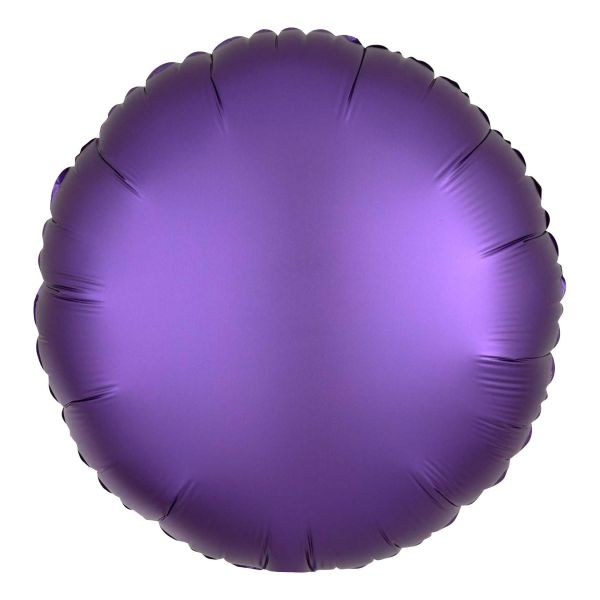Folienballon Rund Satin Royal Violett 45cm