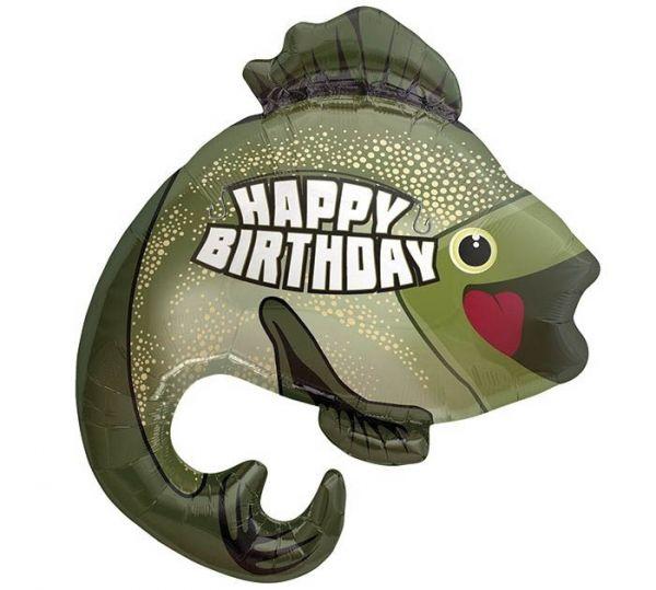 Folienballon Happy Birthday Barsch 81 cm