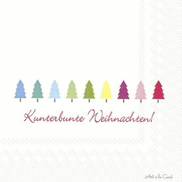 Kunterbunte Weihnachten - 20 Servietten