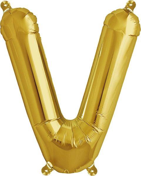 Luftballon Buchstabe V Gold 40 cm