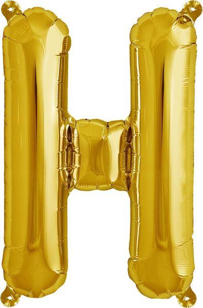 Luftballon Buchstabe H Gold 40 cm