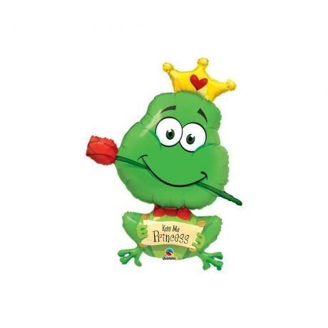 "Folienballon Froschkönig ""Kiss Me Princess"" 100cm"