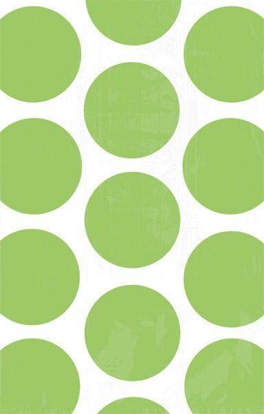 Kiwi Grün - 10 Polka Dots Süßigkeiten Papiertüten