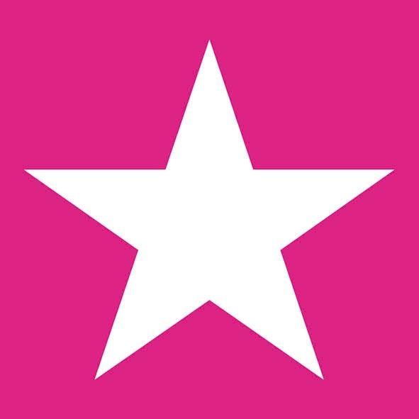 20 Servietten Stern Pink
