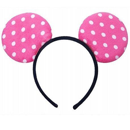 Rosa - Haarreifen mit Minnie-Maus-Ohren