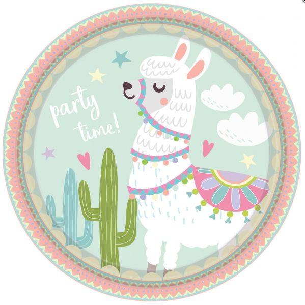 Happy Lama - 8 Pappteller