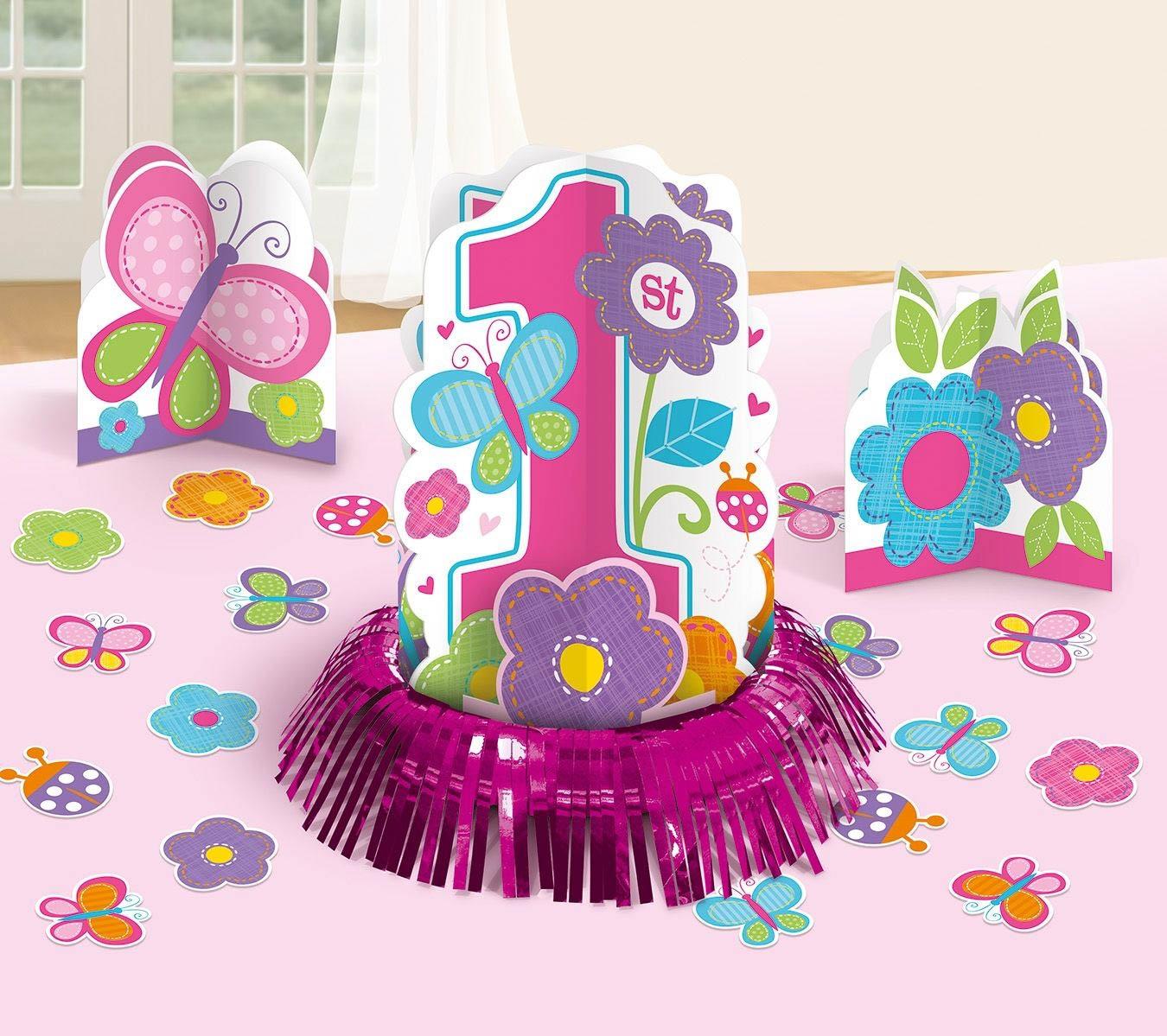 Sweet Birthday Girl 1 Geburtstag Tischdeko Set Fur Madchen 1