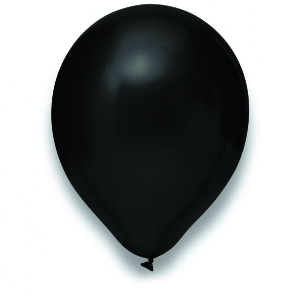 Latexballon Metallic Schwarz 50 Stück Ø 30cm