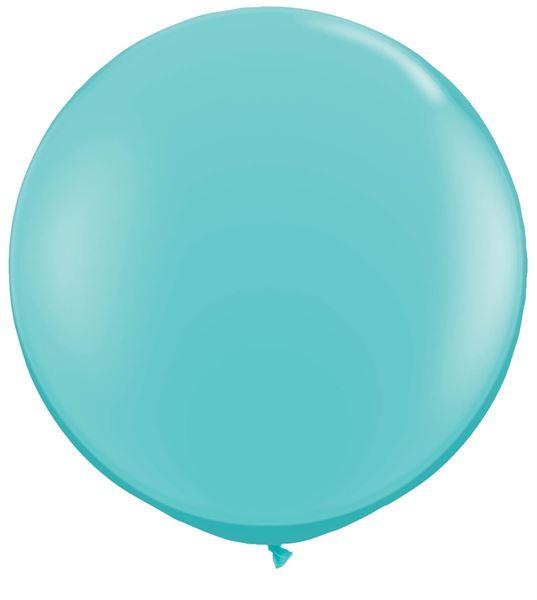 Qualatex Latexballon Gigant Caribbean Blue Ø 90cm