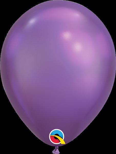Qualatex Latexballon Chrome Purple 30cm Ø