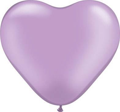 Latexballon Herz Lavander Pastel Ø 45cm
