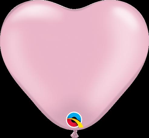 Qualatex Latexballon Herz Pearl Pink Ø 15cm