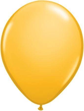 Qualatex Ballon Goldgelb 30cm