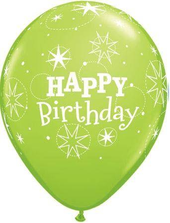 Qualatex Latexballon Happy Birthday Sparkle Lime Green Ø 30cm