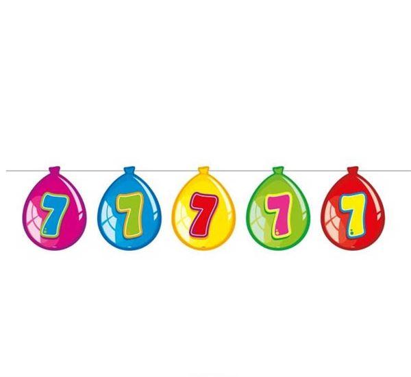 Luftballon-Wimpelkette zum 7. Geburtstag
