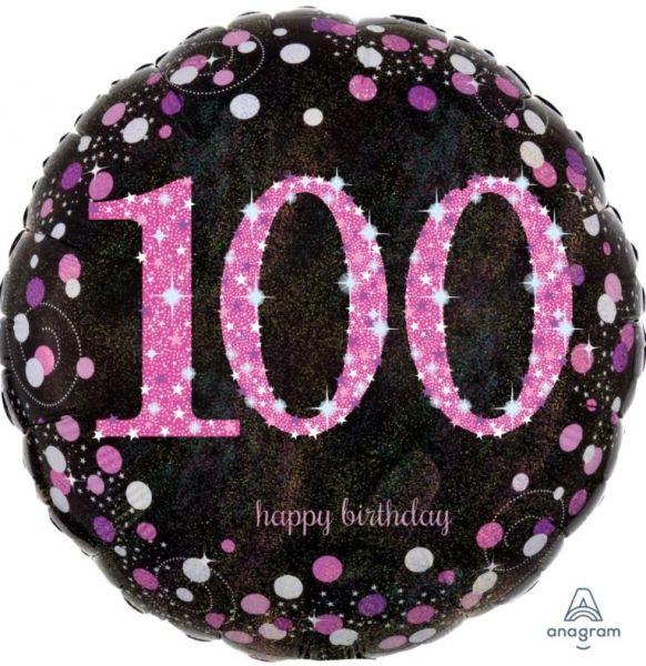 """Folienballon Pink Celebration """"100"""" 43cm"""