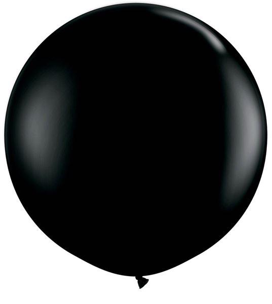 Qualatex Latexballon Gigant Onyx Black Ø 90cm