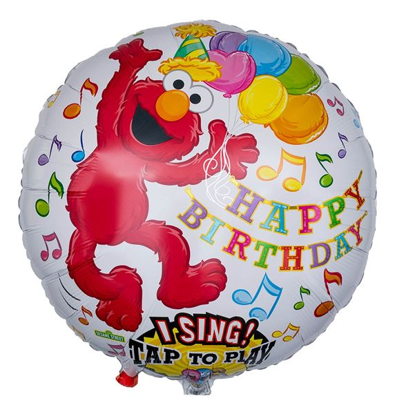 Musikballon Happy Birthday singender Elmo 71cm