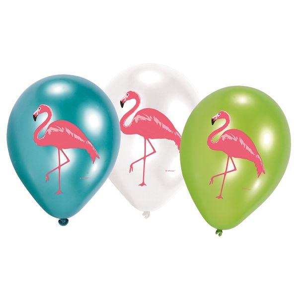 Flamingo - 6 Luftballons 30 cm