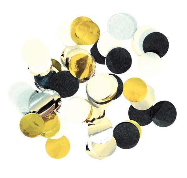 Golden Wishes - Konfetti Gold, Silber & Schwarz