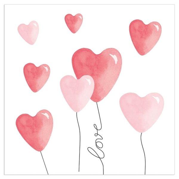 """20 Servietten Ballonherzen """"Love"""""""