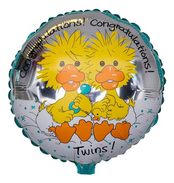 Folienballon Glückwunsch Zwillinge 45cm