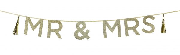Say It With Glitter - Mr & Mrs Girlande Gold