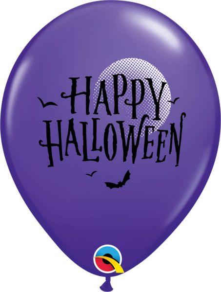 Qualatex Ballon Halloween Fledermäuse Lila Ø 30cm