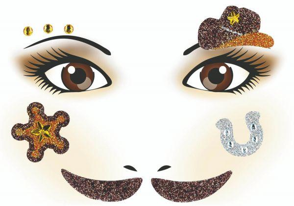 Face Art Sticker - Cowboy